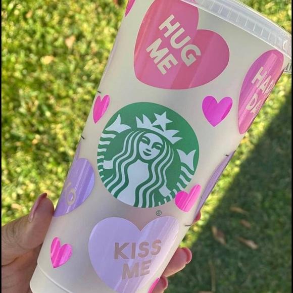 Valentines Day Starbucks Cup 💗💋